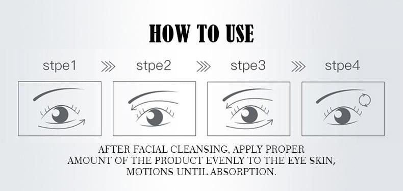 Covercoco Water Light Needle Hyaluronic Acid Essence Moisturizing Firming Eye Dark Circles Eliminate Under-eye Puffiness