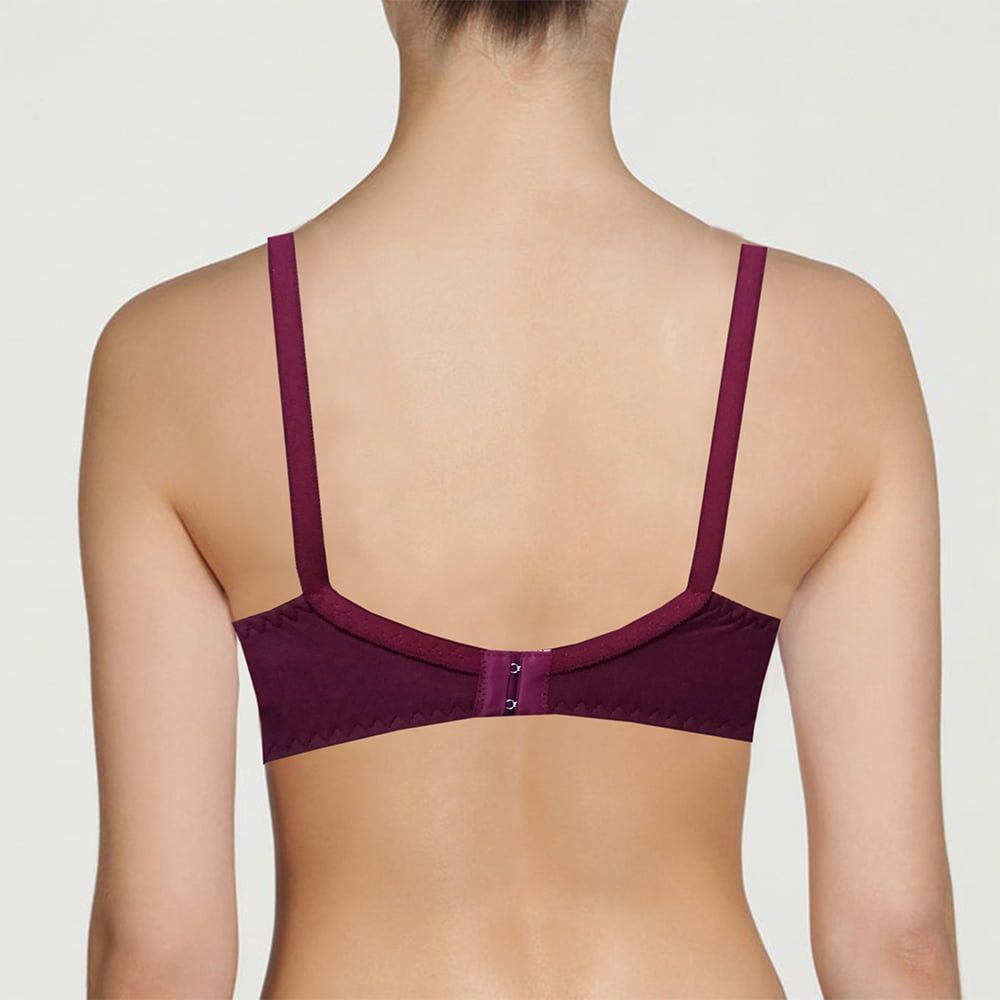 Soft Touch Non-Padded Full Cover Bra Cotton Blended Soft Blouse Brazier (2)